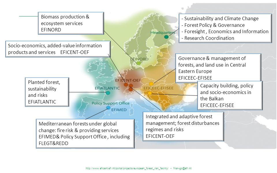 http://www.eficent.efi.int/portal/projects/european_forest_risk_facility/ frisk-go@efi.int - Sustainability and Climate Change - Forest Policy & Gover