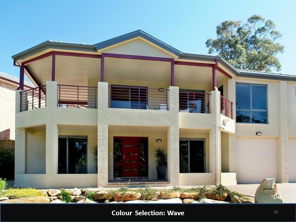 Colour Selection: Wave 45