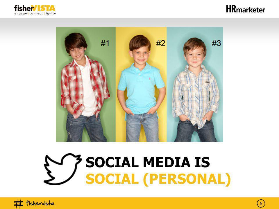 6 SOCIAL MEDIA IS SOCIAL (PERSONAL)