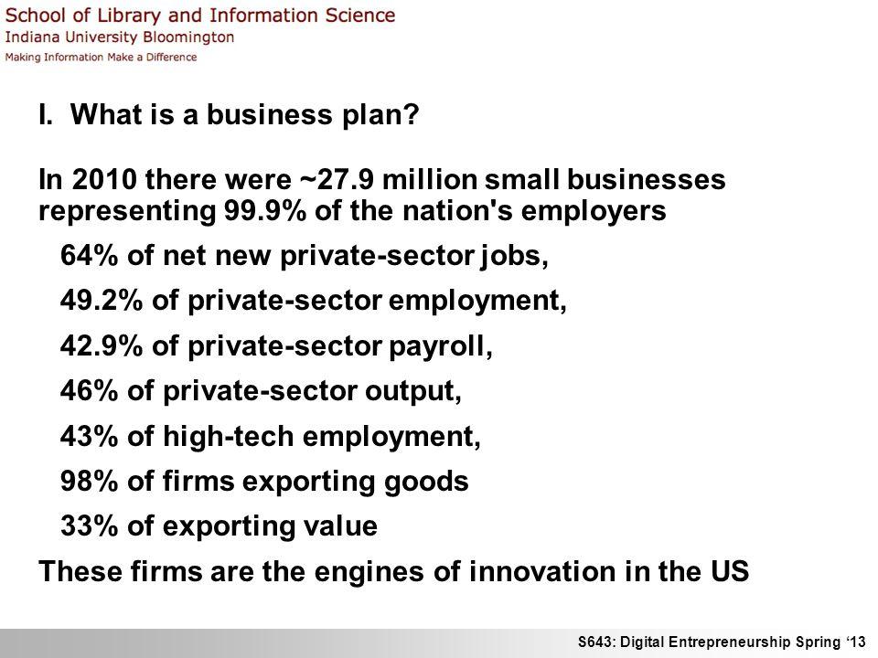 S643: Digital Entrepreneurship Spring 13 III.