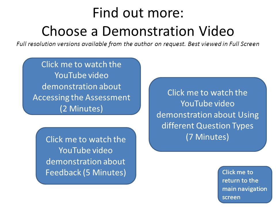 Find out more: Choose a Demonstration Video Full resolution versions available from the author on request. Best viewed in Full Screen Click me to retu