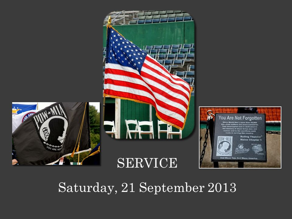 Saturday, 21 September 2013 SERVICE