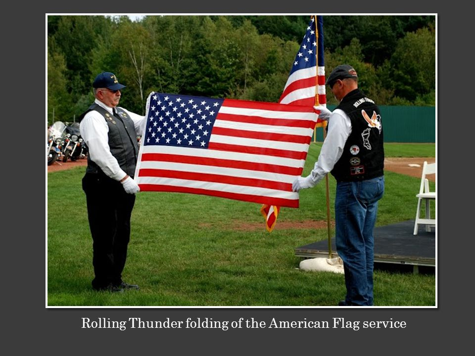 Rolling Thunder folding of the American Flag service