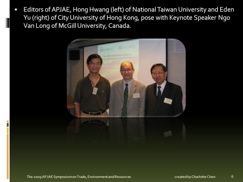 Kenji Kondoh of Chukyo University, Japan, presents his paper, titled Pollution Abatement Equipment and International Migration.