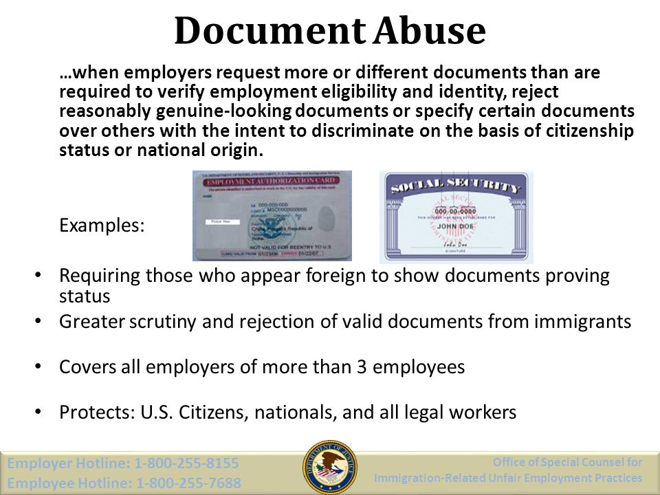 Document Abuse Employer Hotline: 1-800-255-8155 Employee Hotline: 1-800-255-7688 Employer Hotline: 1-800-255-8155 Employee Hotline: 1-800-255-7688 Off