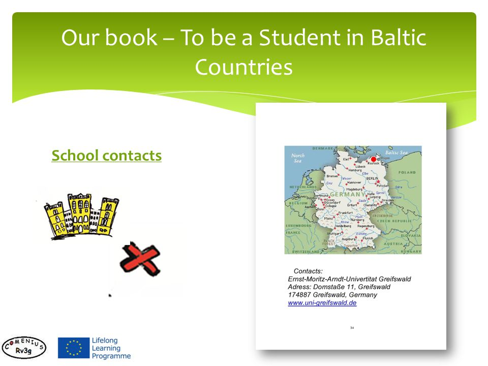 School contacts Our book – To be a Student in Baltic Countries