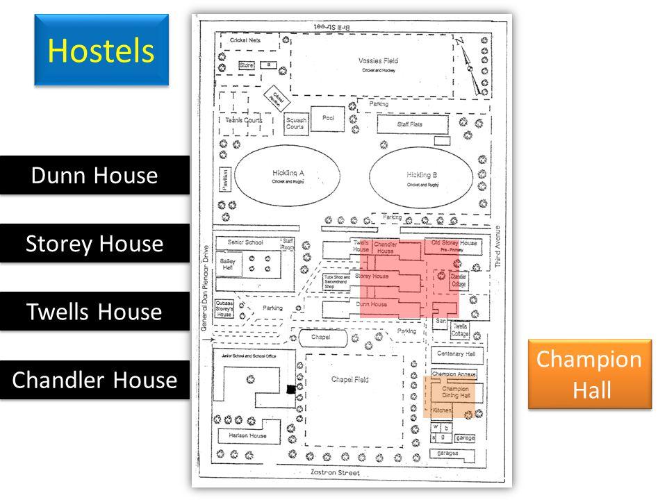 Hostels Storey House Dunn House Twells House Chandler House Champion Hall Champion Hall