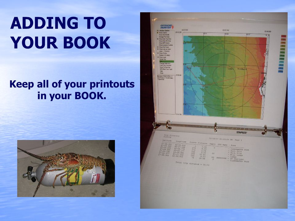 ADDING TO YOUR BOOK Keep all of your printouts in your BOOK.