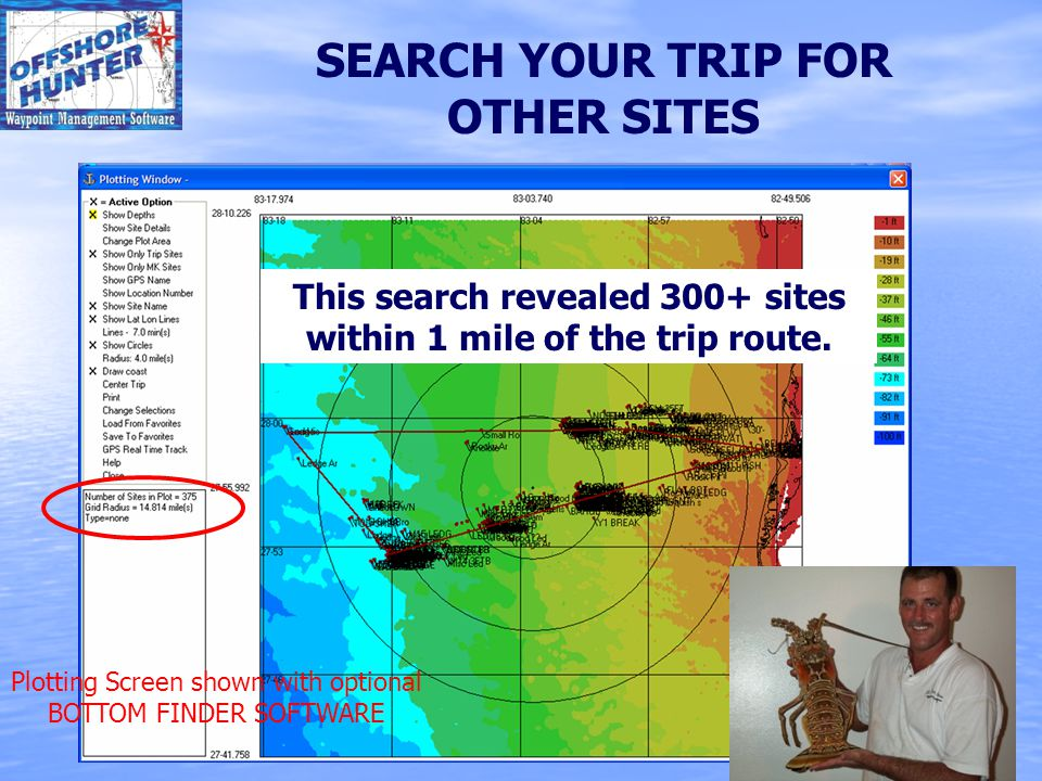 SEARCH YOUR TRIP FOR OTHER SITES This search revealed 300+ sites within 1 mile of the trip route.