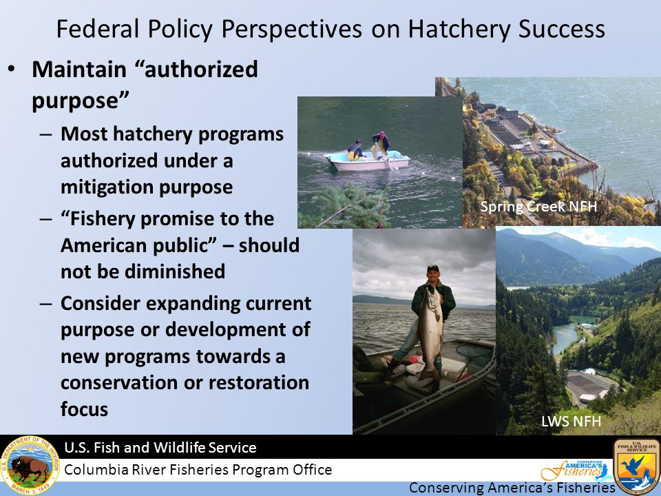 Conserving Americas Fisheries U.S.