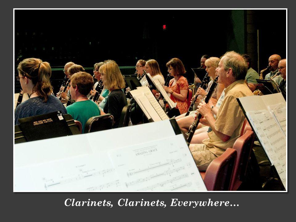 Clarinets, Clarinets, Everywhere…