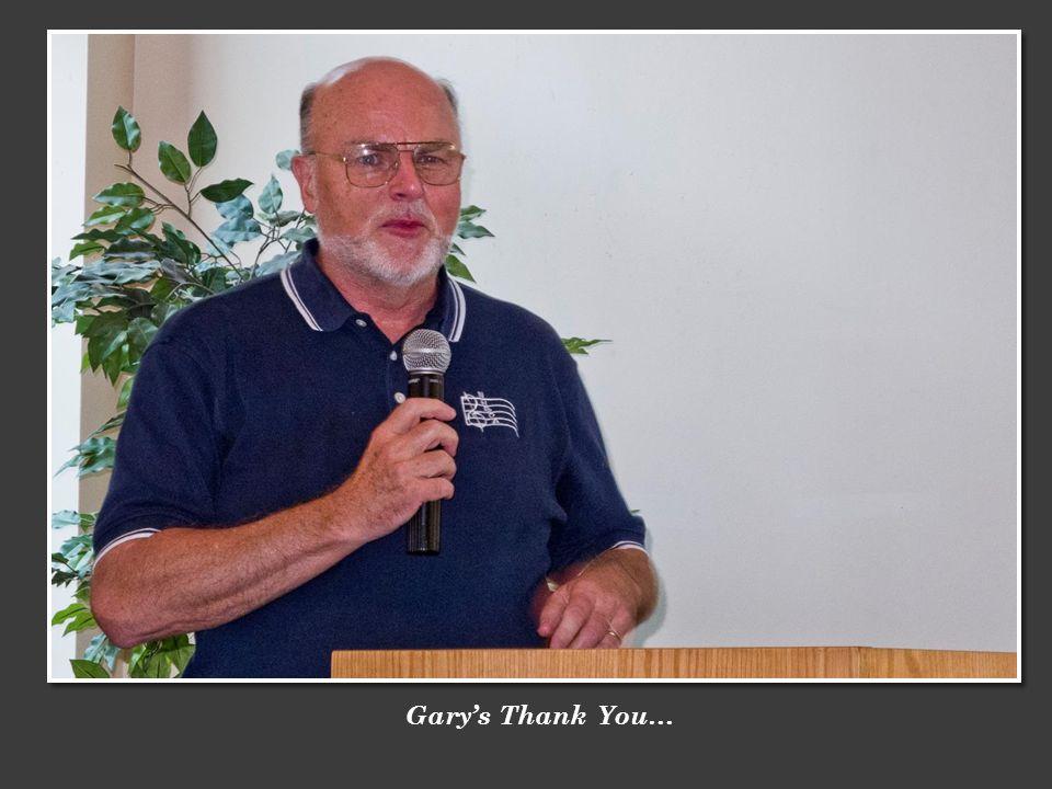 Garys Thank You…