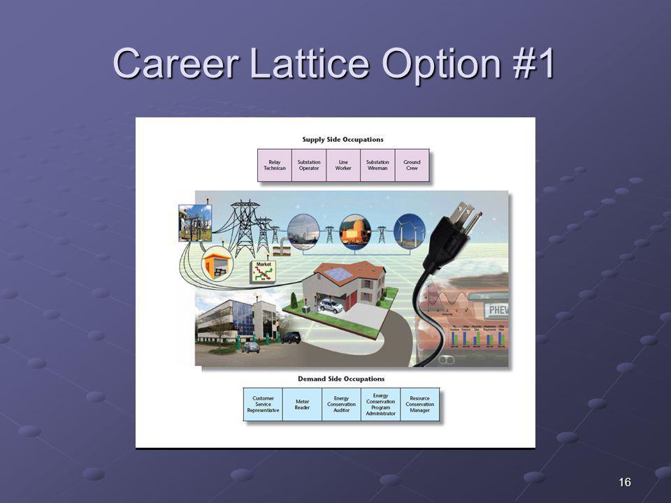 Career Lattice Option #1 16