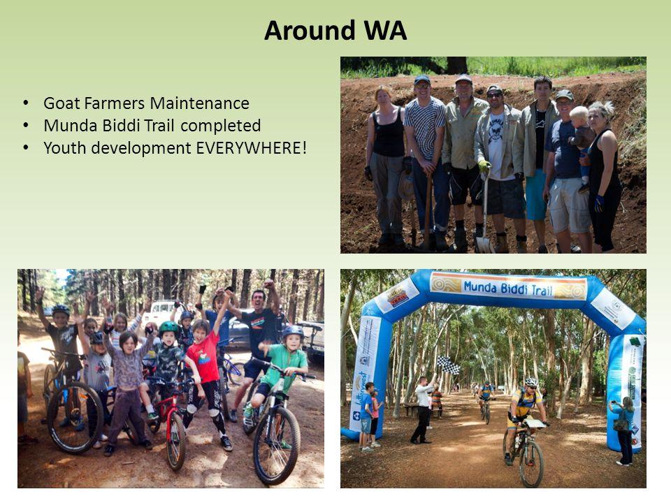 Around WA Goat Farmers Maintenance Munda Biddi Trail completed Youth development EVERYWHERE!
