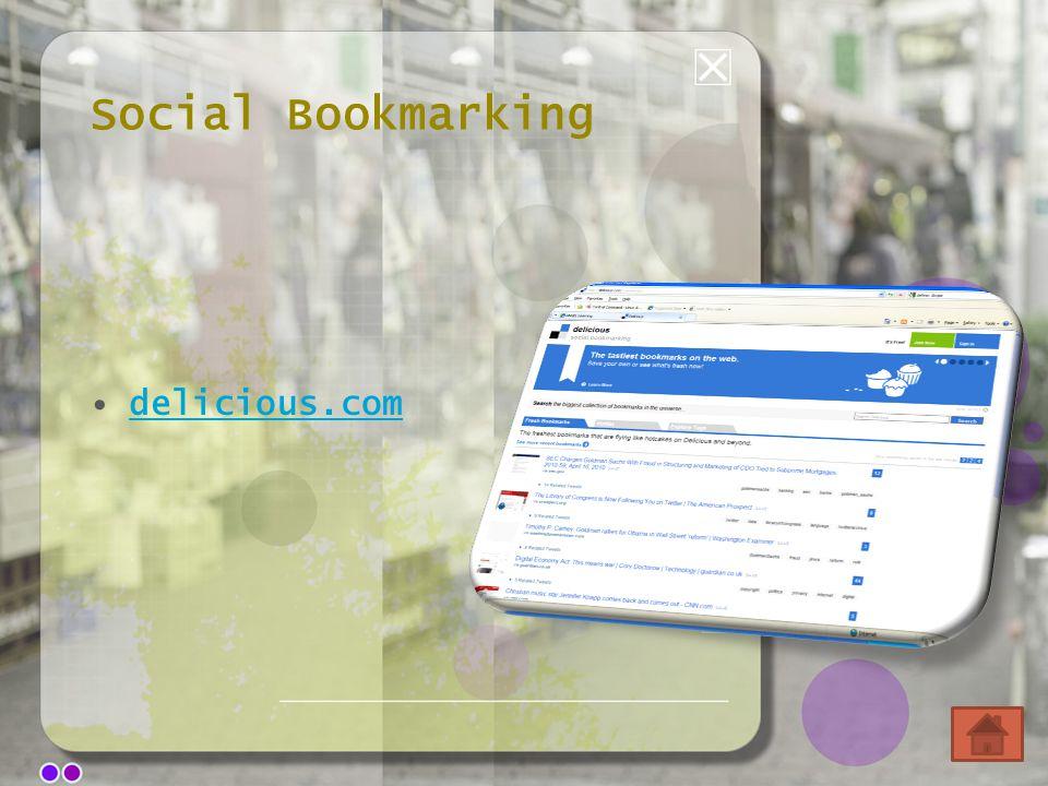 Social Bookmarking delicious.com