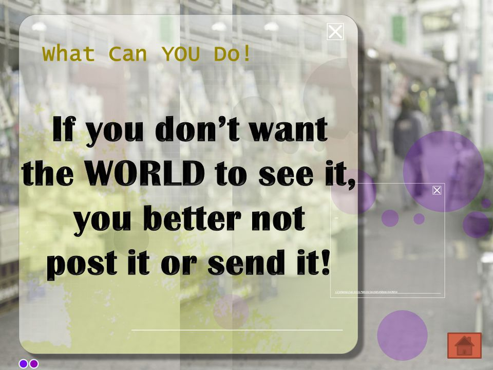 What Can YOU Do!