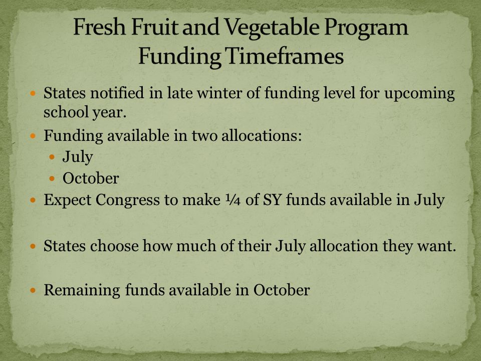 Schools should offer FFVP as many times as possible during a week.