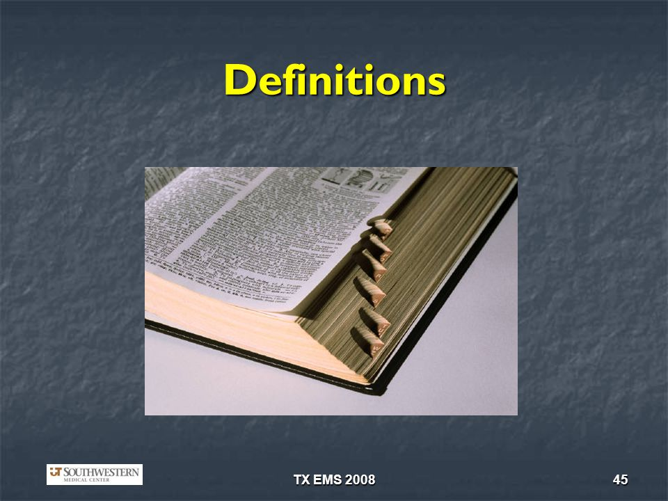 TX EMS 200845 Definitions