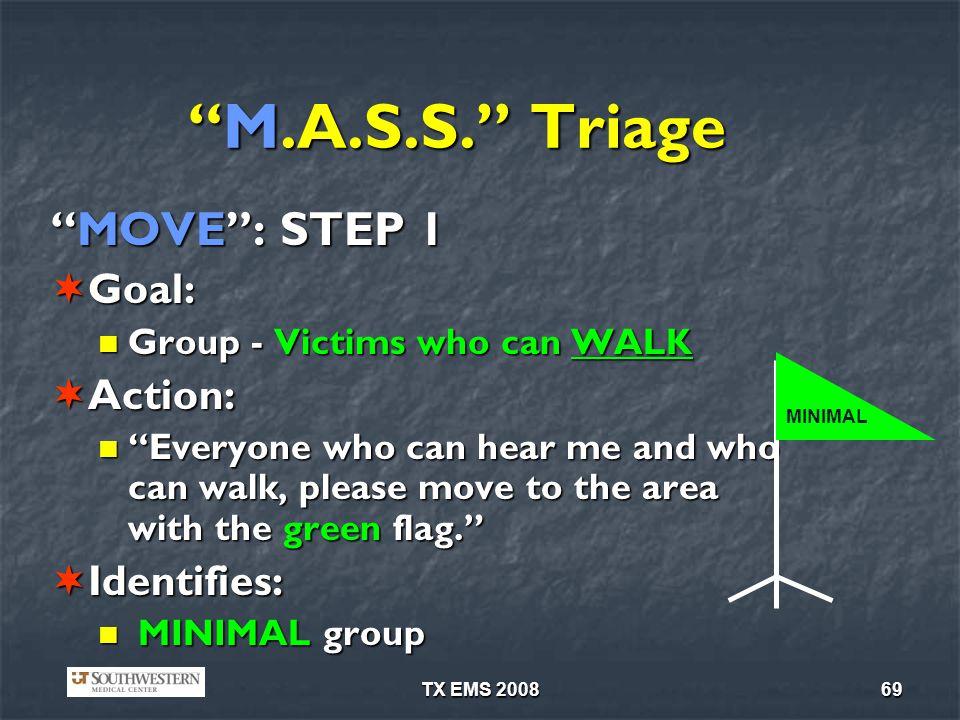 TX EMS 200869 M.A.S.S.TriageM.A.S.S.