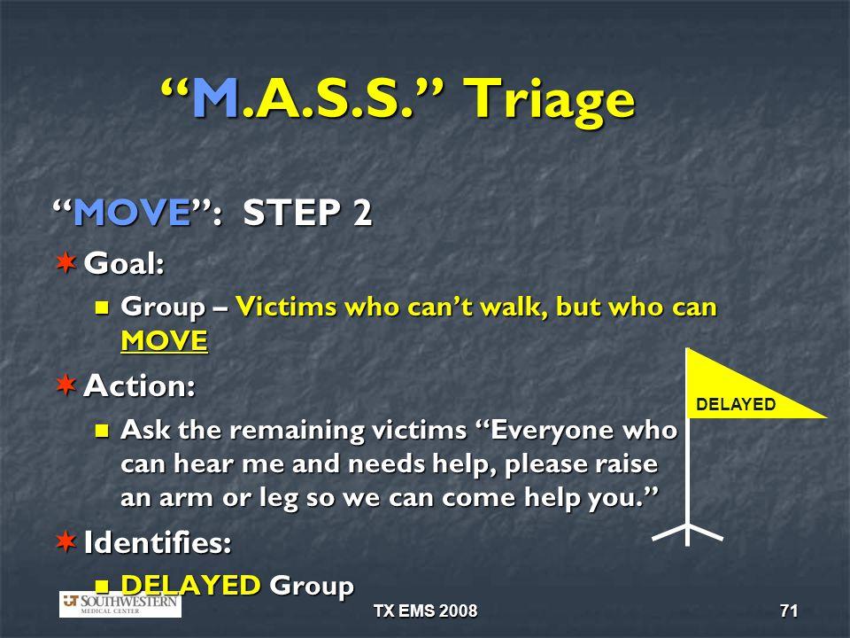 TX EMS 200871 M.A.S.S.TriageM.A.S.S.