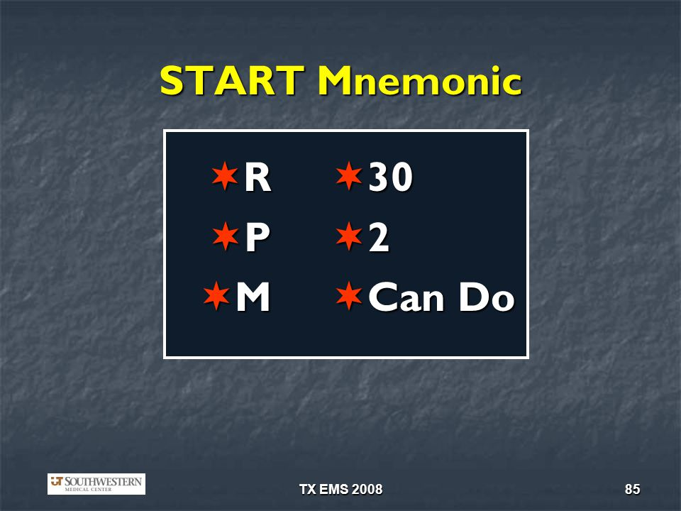 TX EMS 200885 START Mnemonic R P M 30 30 2 Can Do Can Do