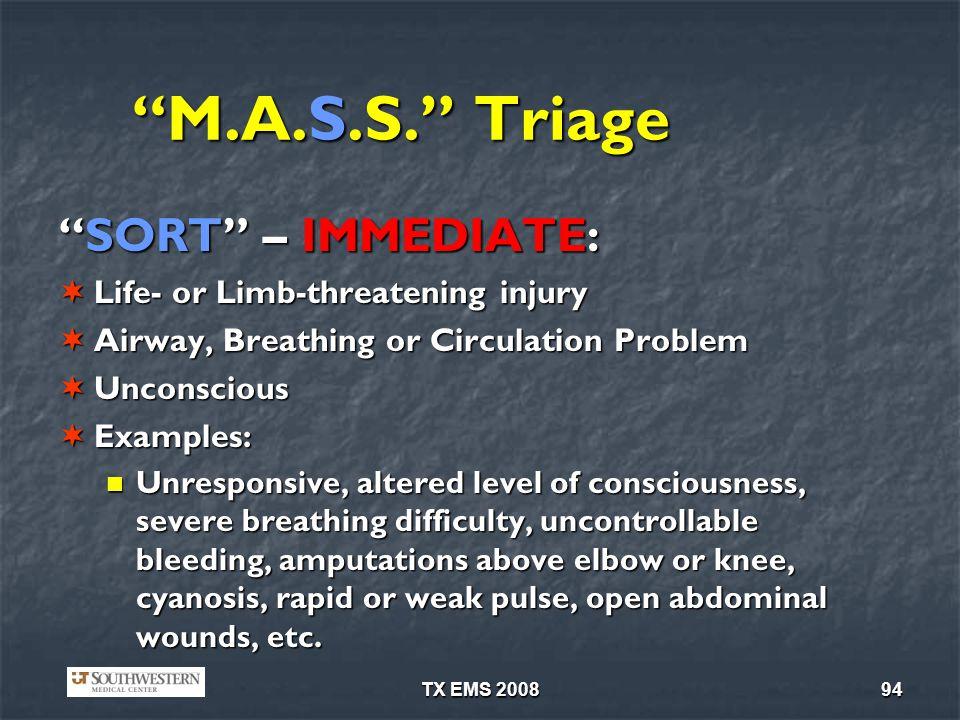 TX EMS 200894 M.A.S.S.