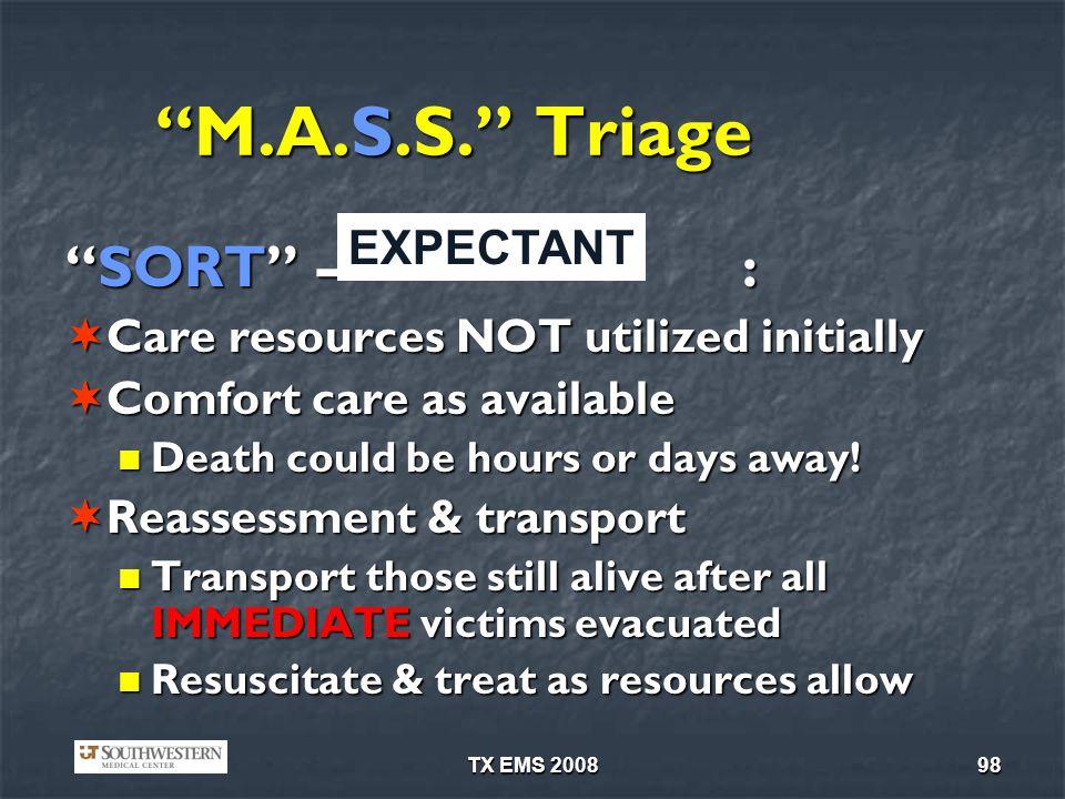 TX EMS 200898 M.A.S.S.