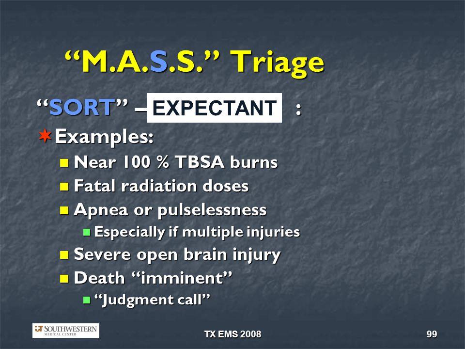 TX EMS 200899 M.A.S.S.