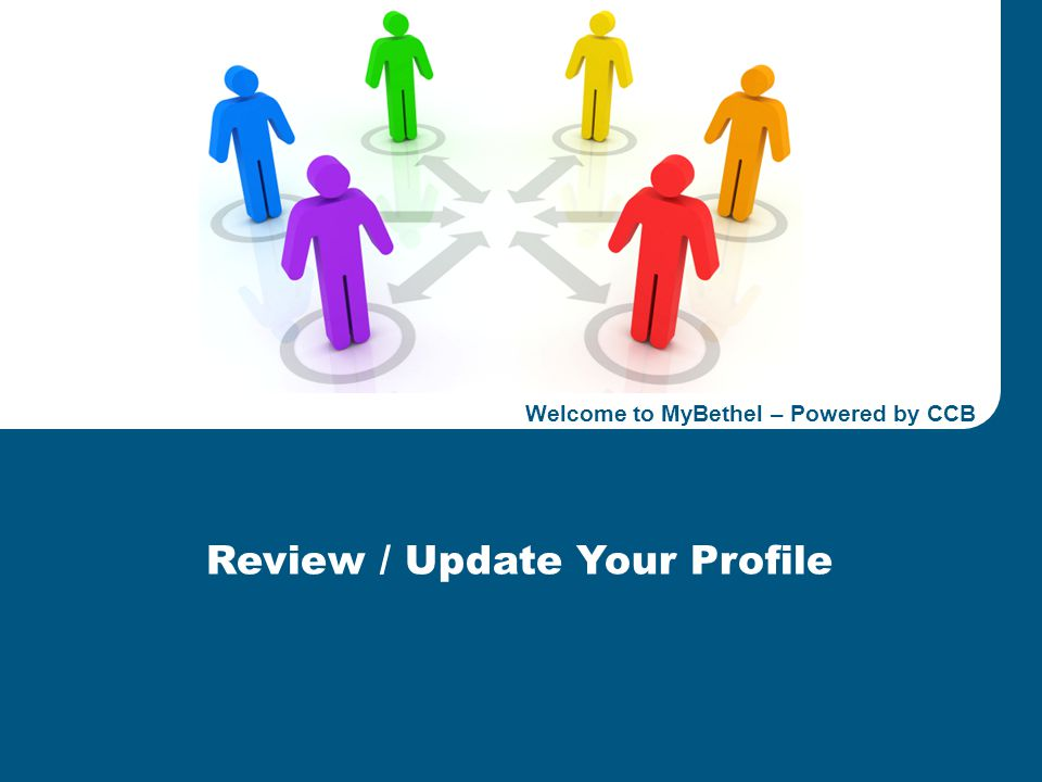 Welcome to MyBethel, Powered by CCBBETHEL CLEVELAND Confidential 1 Energy & Construction 2011 Business Plan Review Review / Update Your Profile Welcom