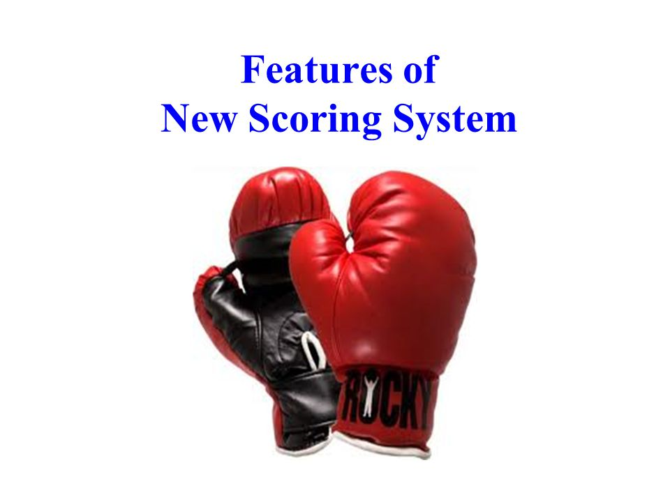 Features of New Scoring System 13
