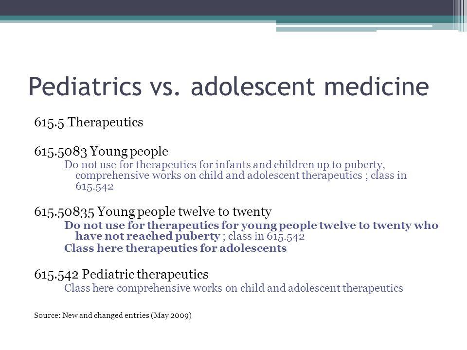 Pediatrics vs.