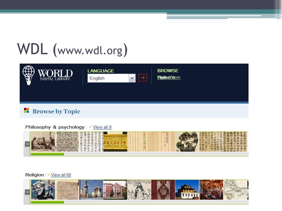 WDL ( www.wdl.org )