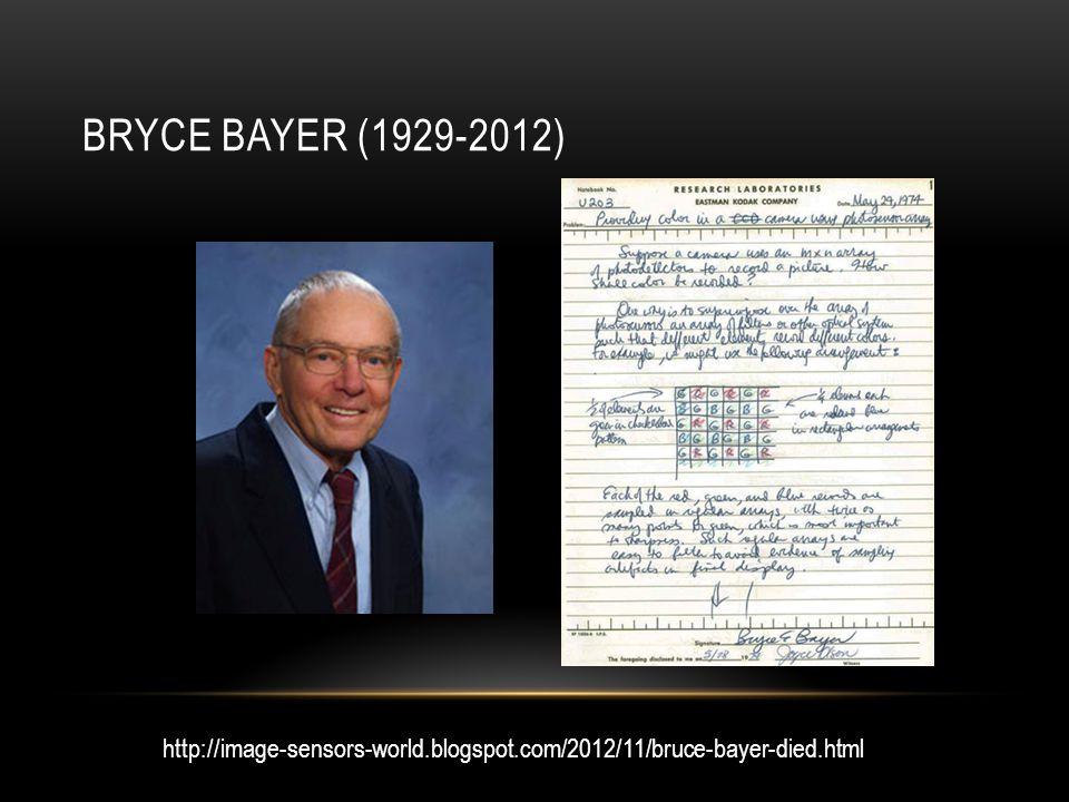 BRYCE BAYER (1929-2012) http://image-sensors-world.blogspot.com/2012/11/bruce-bayer-died.html