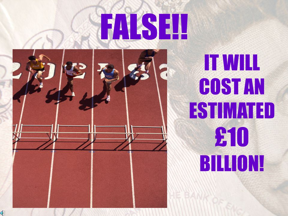 The cost of hosting the Olympics…