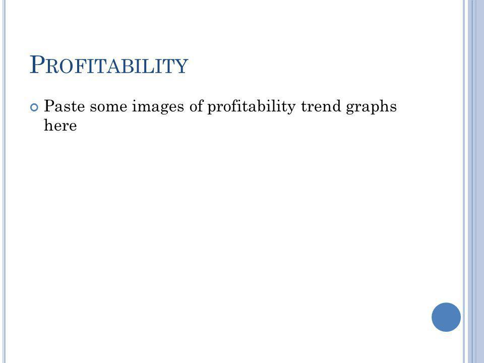 P ROFITABILITY Paste some images of profitability trend graphs here