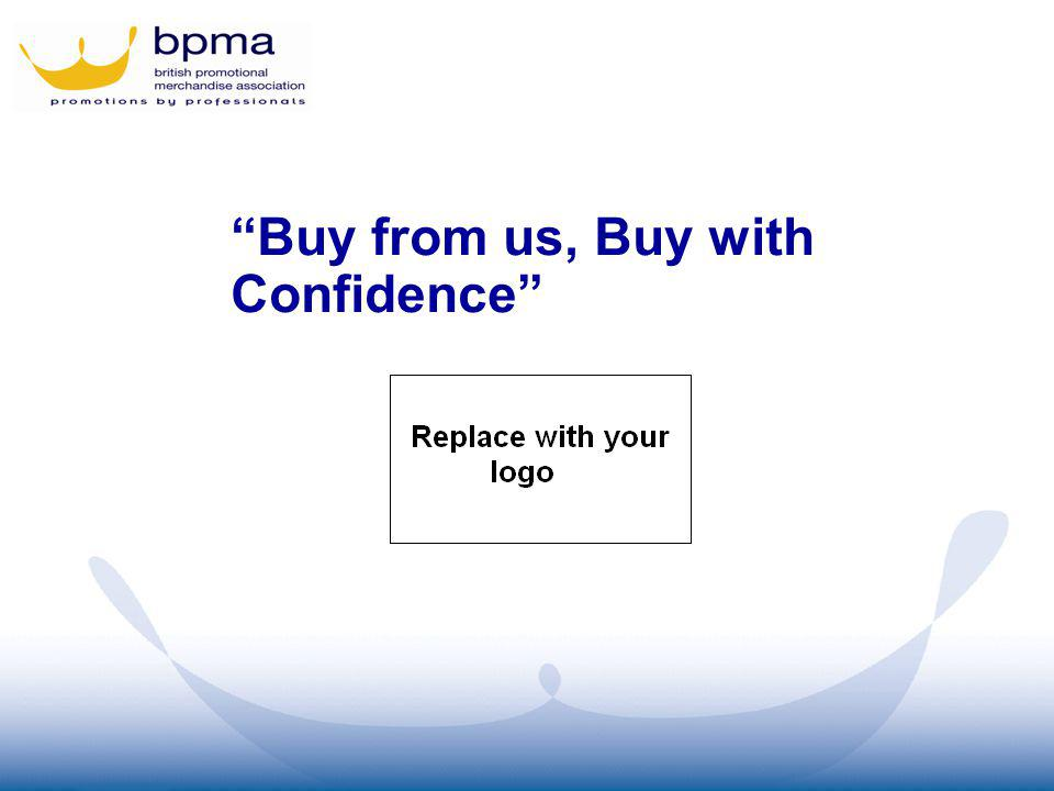 Buy from us, Buy with Confidence