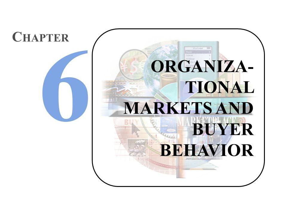 ORGANIZA- TIONAL MARKETS AND BUYER BEHAVIOR C HAPTER