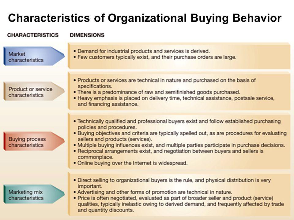 Characteristics of Organizational Buying Behavior