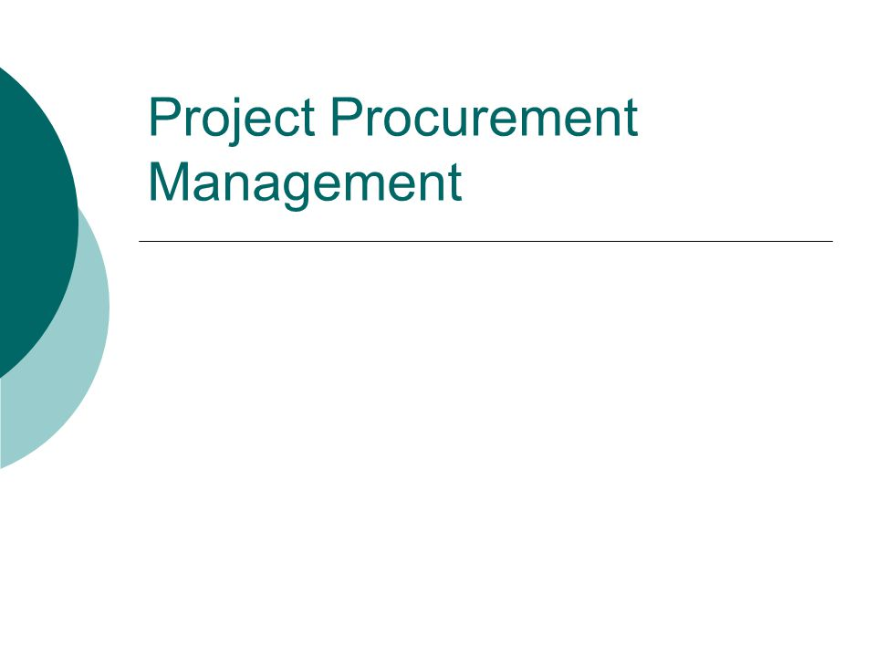Learning Objectives Understand the importance of project procurement management and the increasing use of outsourcing for information technology projects Describe the procurement planning process, procurement planning tools and techniques, types of contracts, and statements of work Discuss what is involved in solicitation planning and the difference between a request for proposal and a request for quote Explain what occurs during the solicitation process