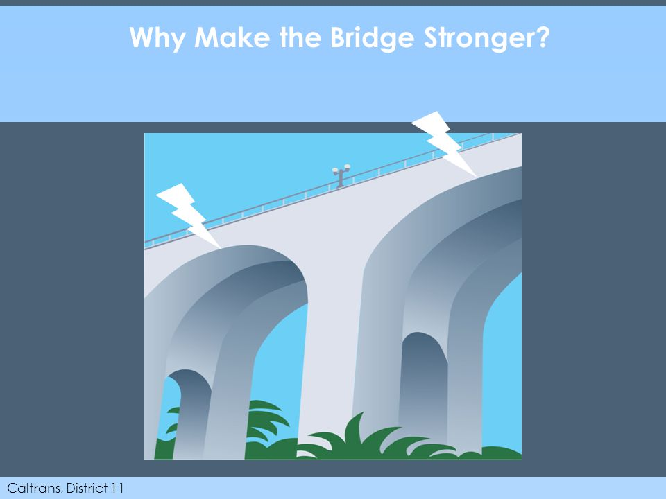 Caltrans, District 11 Why Make the Bridge Stronger?