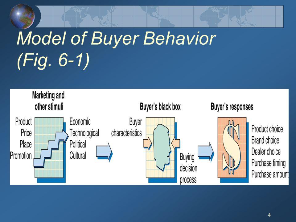 4 Model of Buyer Behavior (Fig. 6-1)