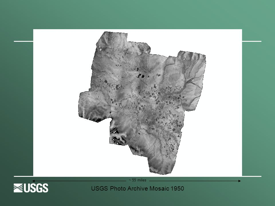 USGS Photo Archive Mosaic 1950 ~ 55 miles