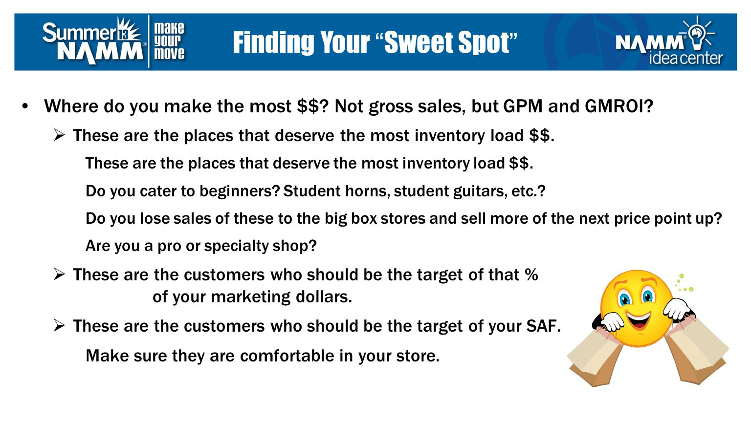 Where do you make the most $$. Not gross sales, but GPM and GMROI.