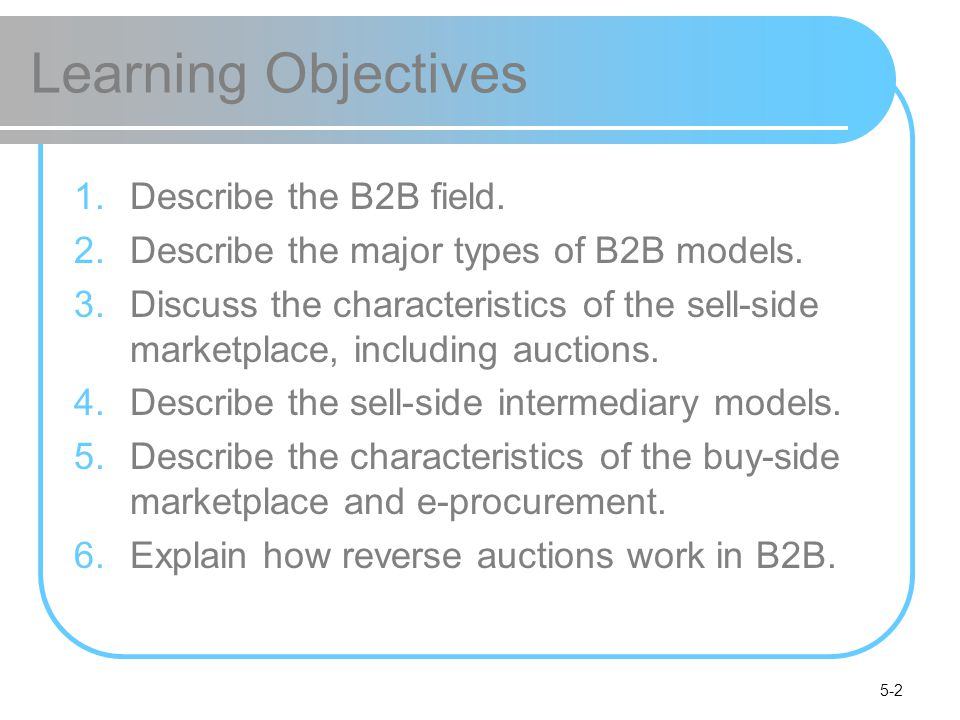 5-3 Learning Objectives 7.Describe B2B aggregation and group purchasing models.