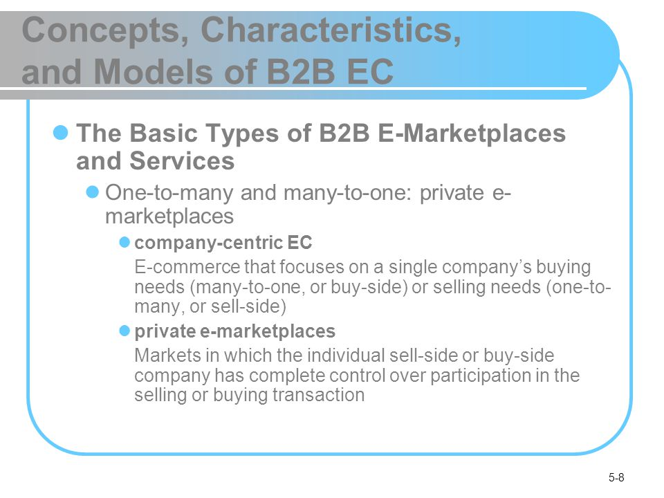 5-29 One-from-Many: Buy-Side E-Marketplaces and E-Procurement Inefficiencies in Traditional Procurement Management procurement management The planning, organizing, and coordination of all the activities relating to purchasing goods and services needed to accomplish the mission of an organization maverick buying Unplanned purchases of items needed quickly, often at non-prenegotiated higher prices