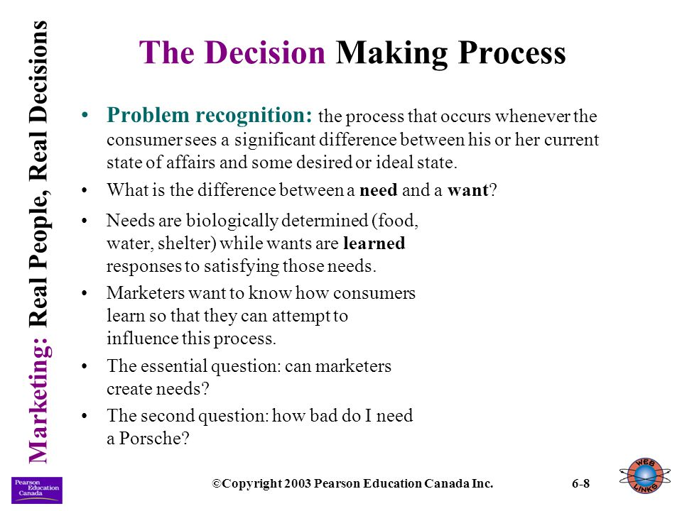 Marketing: Real People, Real Decisions ©Copyright 2003 Pearson Education Canada Inc.6-29 Situational Influences (continued) Temporal factors: the influence of time on the consumers mood and behaviour.