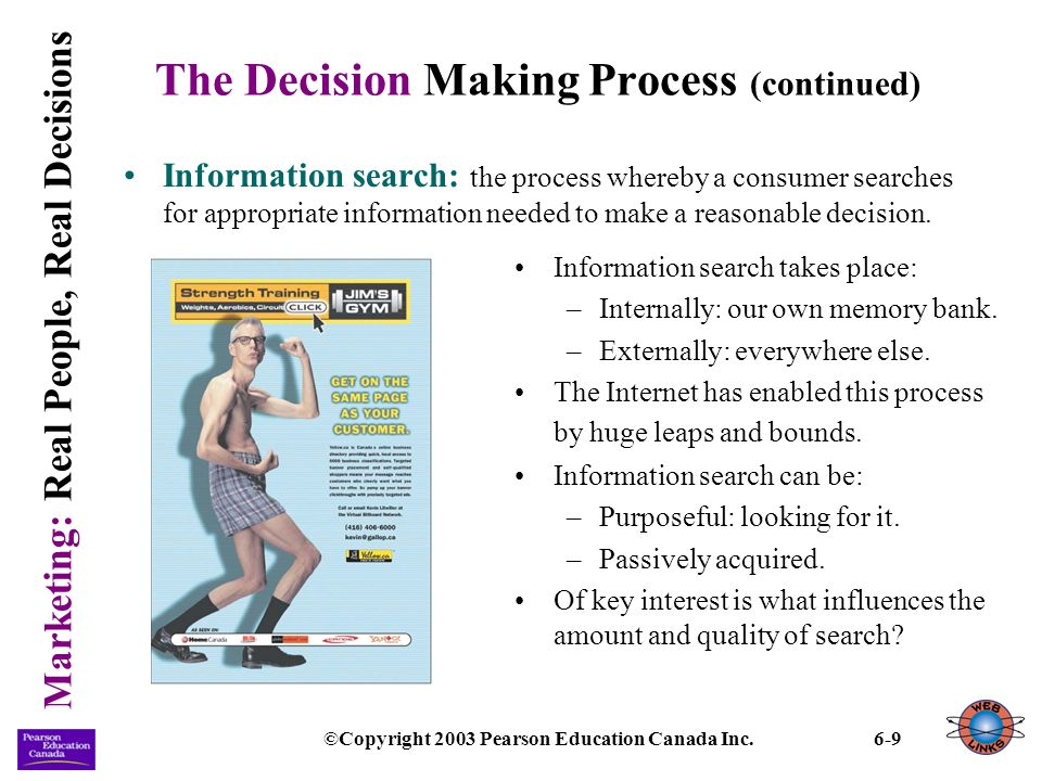 Marketing: Real People, Real Decisions ©Copyright 2003 Pearson Education Canada Inc.6-20 Internal Influences (continued) Operant conditioning: learning that occurs as a result of rewards or punishments.