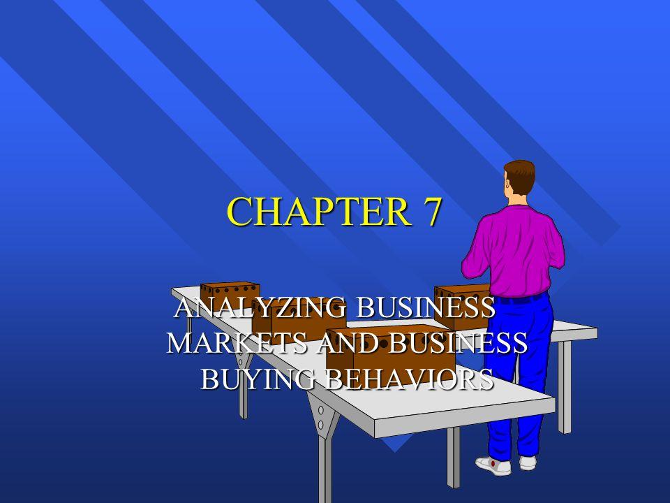 BUSINESS-TO-BUSINESS MARKET Business-to-Business Consumer Business-to-Business Consumer Market Market Market Market 1.