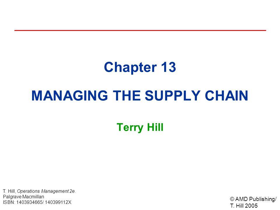 © AMD Publishing/ T.Hill 2005 T. Hill, Operations Management 2e.