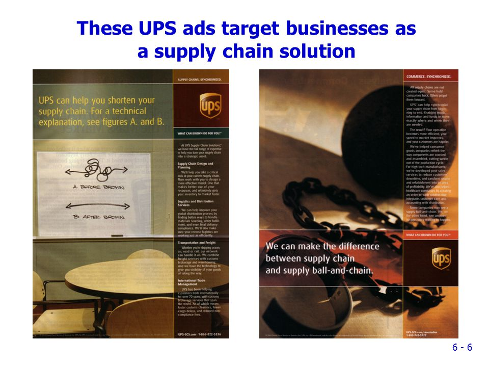 These UPS ads target businesses as a supply chain solution 6 - 6